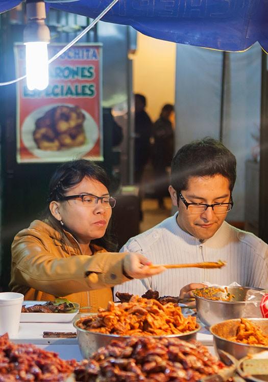 Comida callejera en Lima