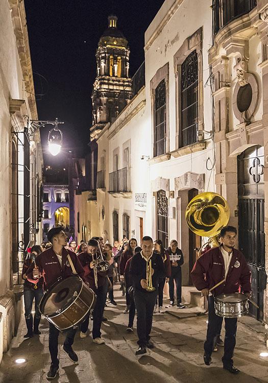 Callejones en el centro de Zacatecas